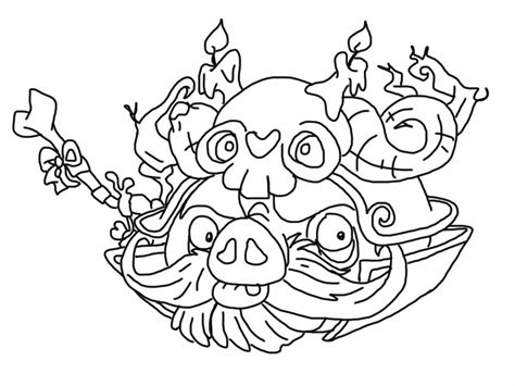Angry Birds Epic Kleurplaat by Angry Birds Epic Coloring Page Wizard Pig My Free