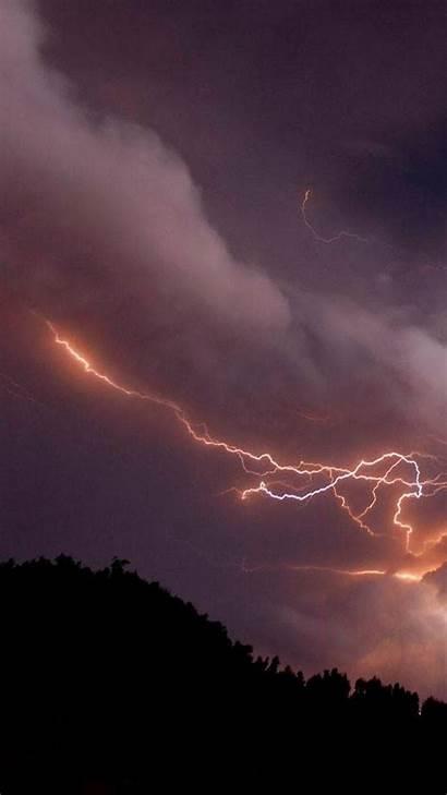 Lightning Storm Bolt Tornado Volcanic Mobile Iphone