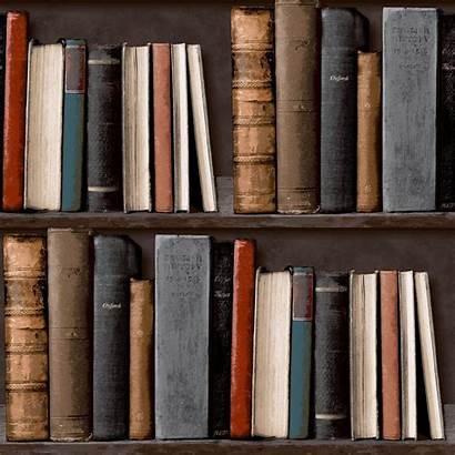 Library Books Bookcase Antique Classic Retro