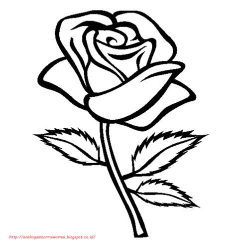 Coloring Bunga by 15 Gambar Mewarnai Bunga Mawar Untuk Anak Paud Dan Tk