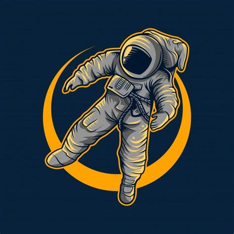 This animation shows you how a heart icon is made from two circles and a square. Astronaut Vector Illustration Flying With Moon Light