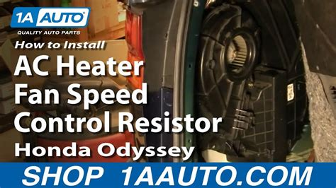 install replace rear ac heater fan speed control
