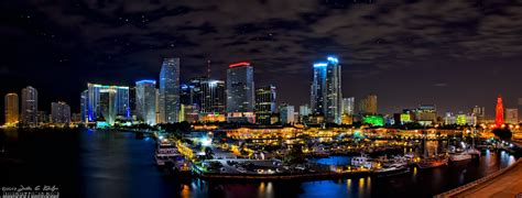 Downtown Miami Skyline Wallpaper Hdrcustoms Com Custom Websites Design Services Photography Video Bayside By Night Downtown