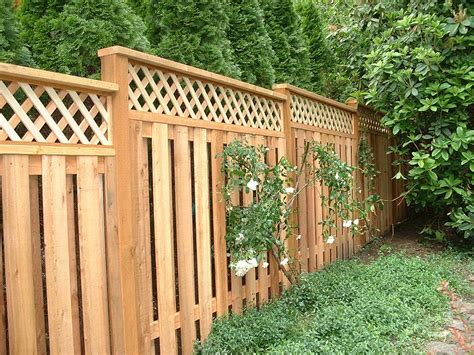 lattice fence lattice top cedar fence fitzpatrick fence and rail