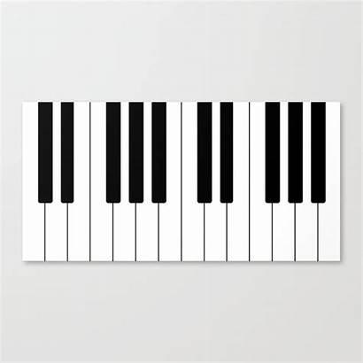 Keys Piano Canvas Prints Keyss Society6 Edge