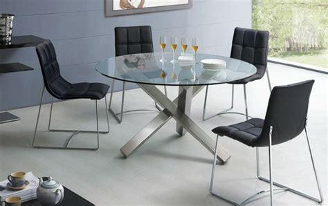 table a manger ronde en verre 80 id 233 es pour bien choisir la table 224 manger design