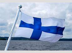 La bandera de Finlandia