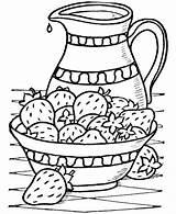 Coloring Colorir Strawberry Morangos Colouring Desenhos Pintura Frutas Strawberries Tecido Dinner Comida Pintar Thanksgiving Feast Riscos Erdbeere Ou Bible Truskawki sketch template