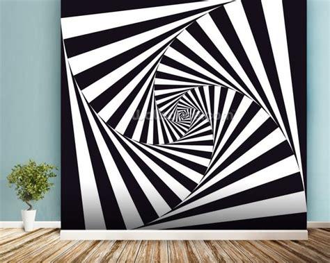 optical art spiral wallpaper wall mural wallsauce