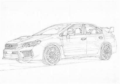 Subaru Wrx Sti Drawings Jdm Paper Rally