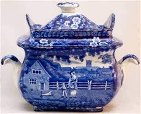 vintage chinese emperor statue blue white porcelain