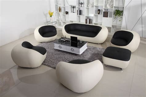 modern white leather sofa with foot stool genuine leather