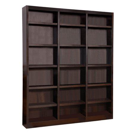 18 Inch Wide Bookcase Wood by Concepts In Wood 18 Shelf Wide Wood Bookcase 84