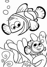 Nemo Finding Coloring Pages Dory Fish Marlin Clipart Clown Printable Characters Outline Template Fun Father Cartoon Cliparts Having Disney Di sketch template