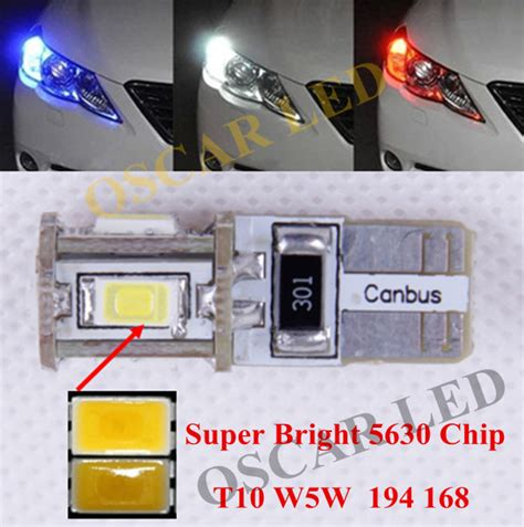 2 X T10 W5w 168 194 No Error Clearance Parking Lights