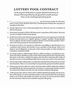 lottery pool contract template image collections With group lottery contract template