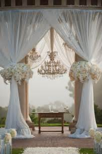 simple wedding ceremony drapery with outdoor ceremony pillars simple wedding decorations pic 15