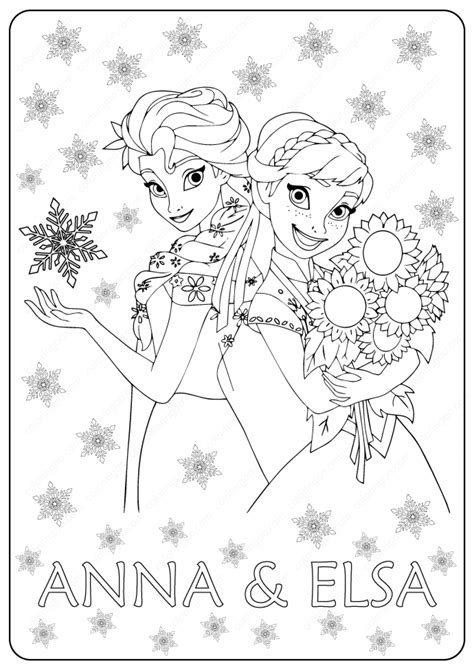 ana frozen  coloring pages coloring home