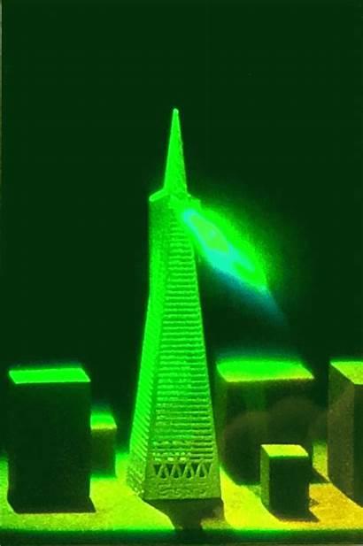 Tower Reflection Transamerica Holograms Hologram Holographic Beam