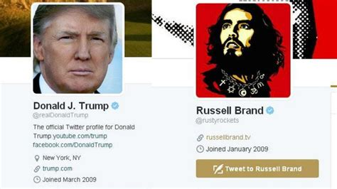 russell brand donald trump donald trump enters nasty twitter war with dummy russell