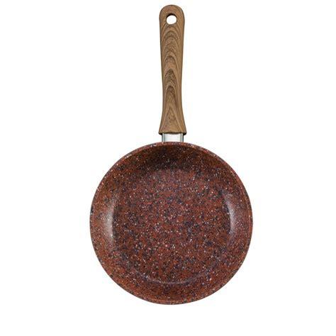 copper stone set   cm cm  stick frying pans qvc uk