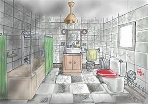 Dessiner Sa Salle De Bain : dessin salle de bain affordable plans de salle de bain ~ Dallasstarsshop.com Idées de Décoration