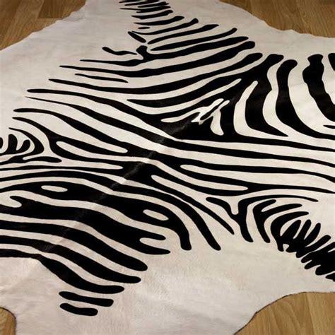 cowhide zebra print rug animal print cowhide rugs free delivery at the rug seller