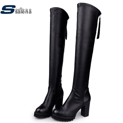 New Women Thigh High Boots Over The Knee Female