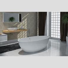Freistehende Badewanne Aus Mineralguss Rio Stone Weiß