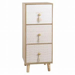 Maison Du Monde Petit Meuble : petit meuble de rangement 3 tiroirs ~ Dailycaller-alerts.com Idées de Décoration