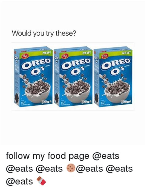 Would You Try These? Ost New New! New! Oreo Cereal Os