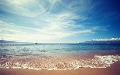 Beach Beaches Wallpapers Ocean Sea Sky Landscape