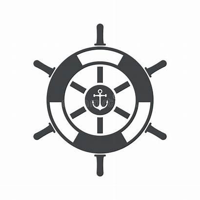 Wheel Ship Steering Vector Icon Boat Illustration