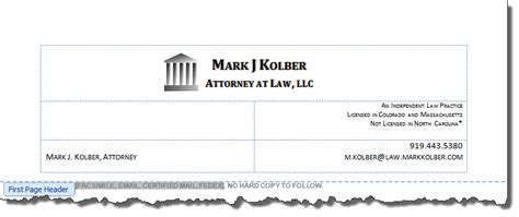 law firm letterhead  printable letterhead