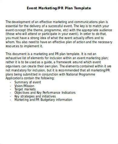 sample marketing plan template word  examples  word
