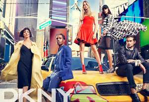 Cara Delevingne and Jourdan Dunn team up in new DKNY ...