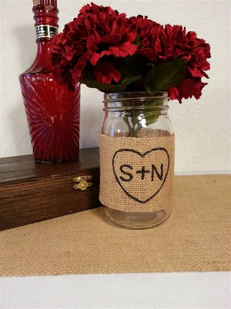 wedding decorating with burlap and mason jars burlap mason jar centerpiece rustic wedding decor