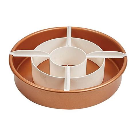 copper chef perfect cake pan    tv