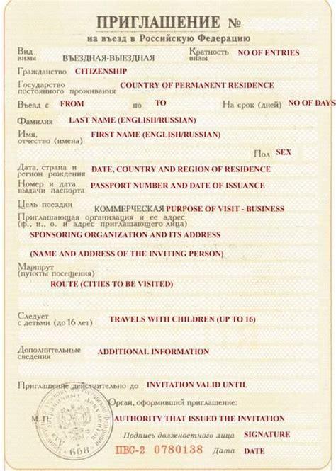 russian tourist visa invitation letter tourist voucher