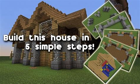 step by step how to build a house build a house in 5 steps minecraft project