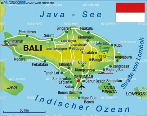 tourist map  bali indonesia map  bali indonesia
