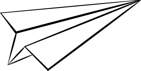 paper airplane clipart black and white paper airplane clipart png clipartxtras