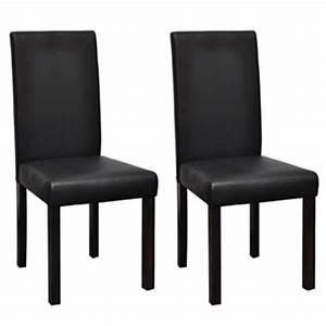 Chaise De Salon Design : 2 chaises de cuisine salon salle manger dossier haut design noires helloshop26 1902013 vente ~ Teatrodelosmanantiales.com Idées de Décoration