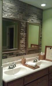 airstone stone accent wall in bathroom can39t wait to do With airstone bathroom