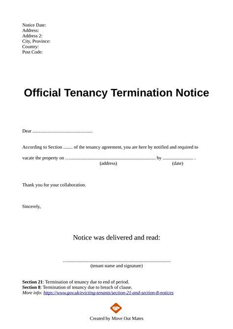 landlord   tenancy letter