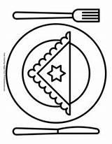 Hanukkah Dinner Plate Coloring Pages Pdf Printable Primarygames sketch template