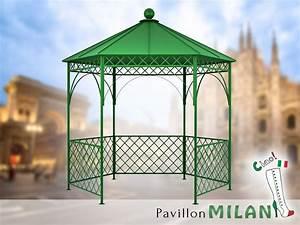 Pavillon Aus Metall : pavillon metall gartenlaube gazebo milan ausgefallen ~ Michelbontemps.com Haus und Dekorationen