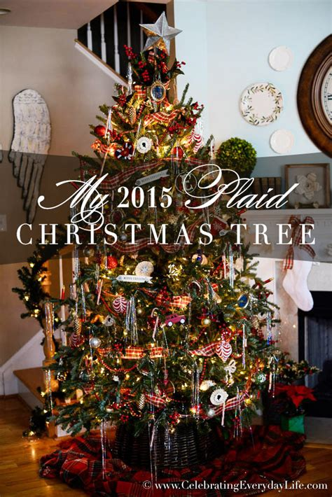 christmas mantle garland my 2015 plaid christmas tree