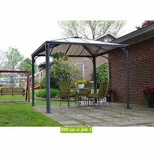 Tonnelle Alu 3x3 : tonnelle alu 3x3 couv 39 terrasse tonnelle terrasse aluminium pergola alu ~ Teatrodelosmanantiales.com Idées de Décoration