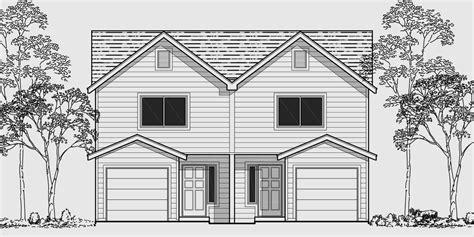 triplex house plans corner lot multifamily plans